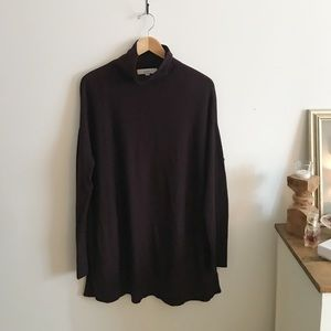 Loft dark purple turtleneck sweater